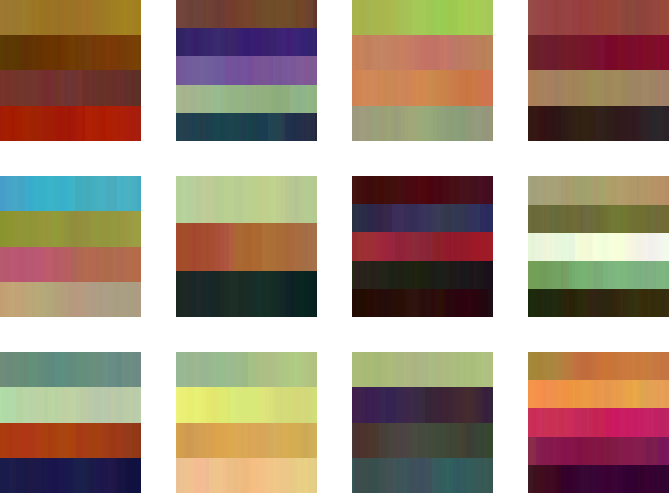 zoomed-in crops of twinkle stripes